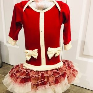 Ooh LaLa Couture Red Christmas infant dress